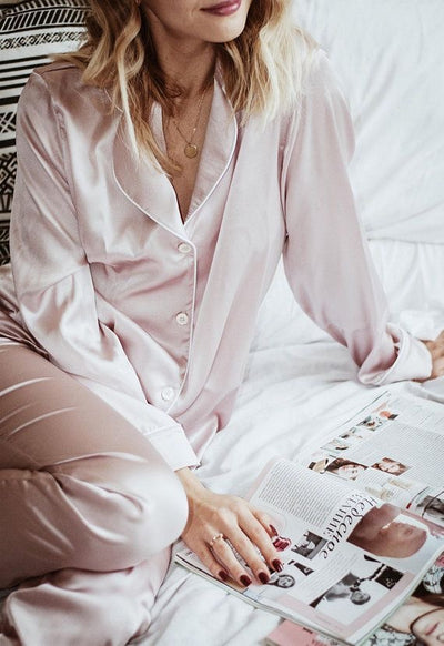 Silk Long Sleeve Pyjamas Set