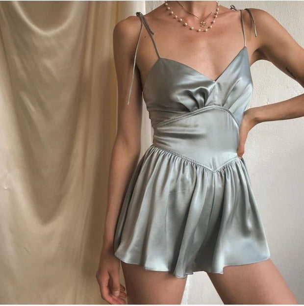 Sleeveless Satin Pyjamas