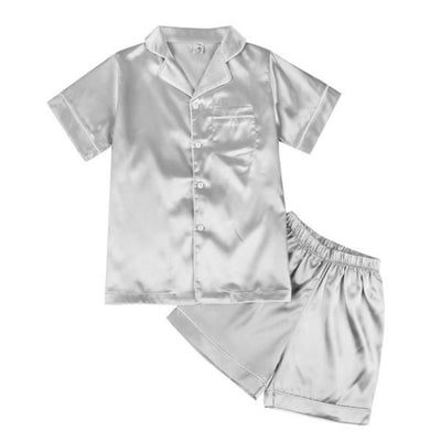 Short Sleeve Silk Pyjamas Set for Kids