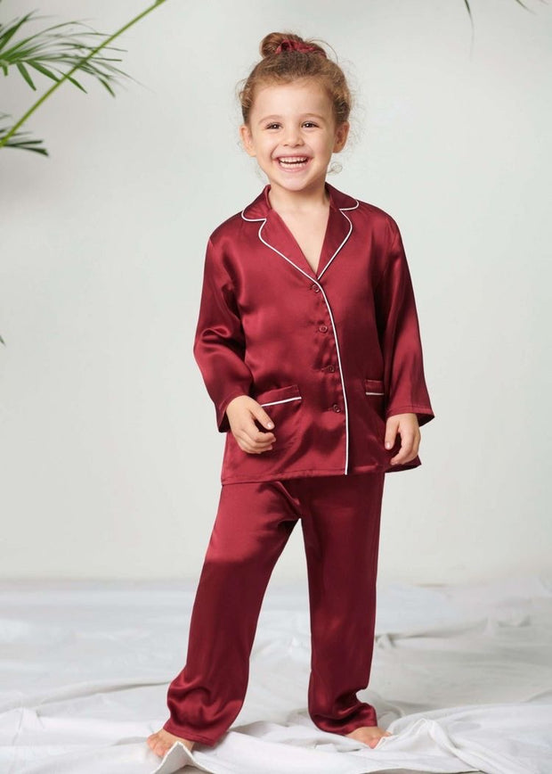 Silk Pyjamas Set for Kids