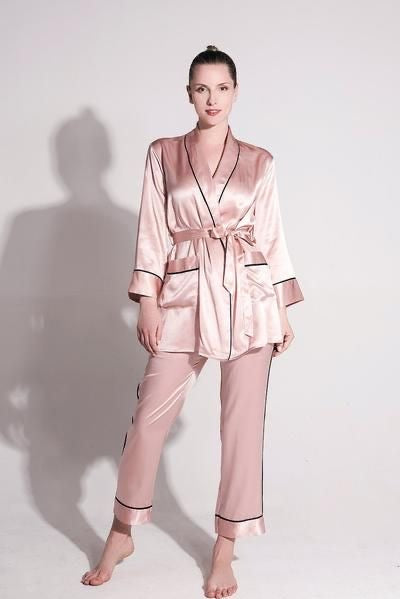 2 Piece Silk Pyjamas Set