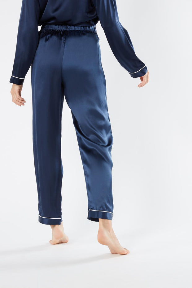 Silk Satin Boyfriend-fit Pyjamas Set