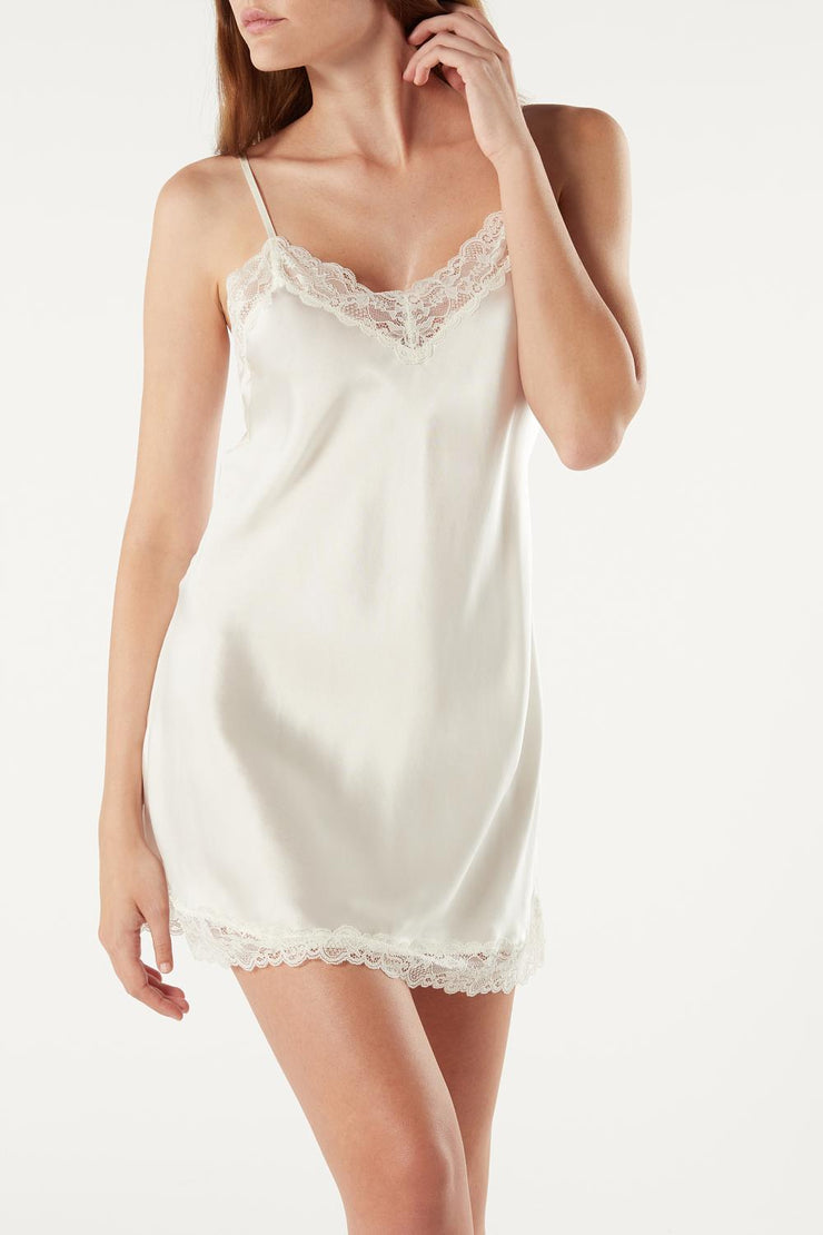 Lace Satin Nightgown