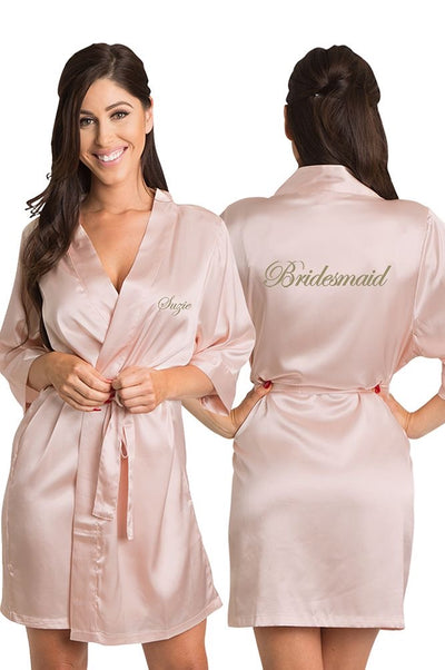 Satin Bridal Party Robe