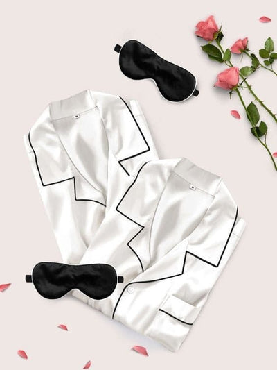 Mr & Mrs Silk Pyjamas Set