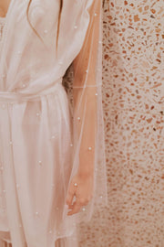 Lux Pearl Tulle Robe - Amelie Baku Couture
