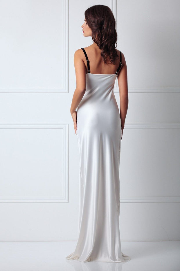 Semi-Sweetheart Neckline Silk Slip Dress