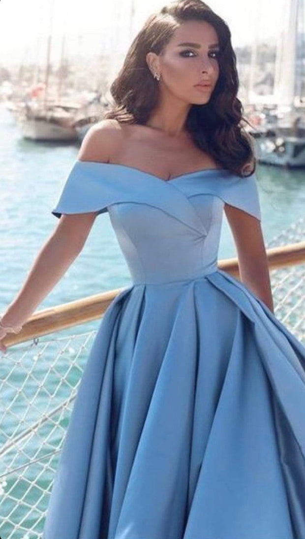 Blue Cinderella Dress - Amelie Baku Couture