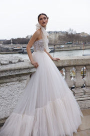 Romantic and ritzy bridal gown