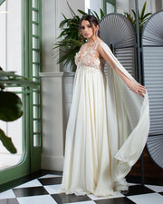 MEDEINA MATERNITY GOWN - Amelie Baku Couture