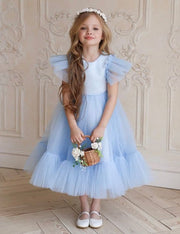 Flower girl dress with air wings by Amelie - Amelie Baku Couture