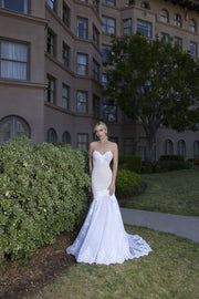 Sweetheart Neckline Strapless Mermaid Tulle Dress