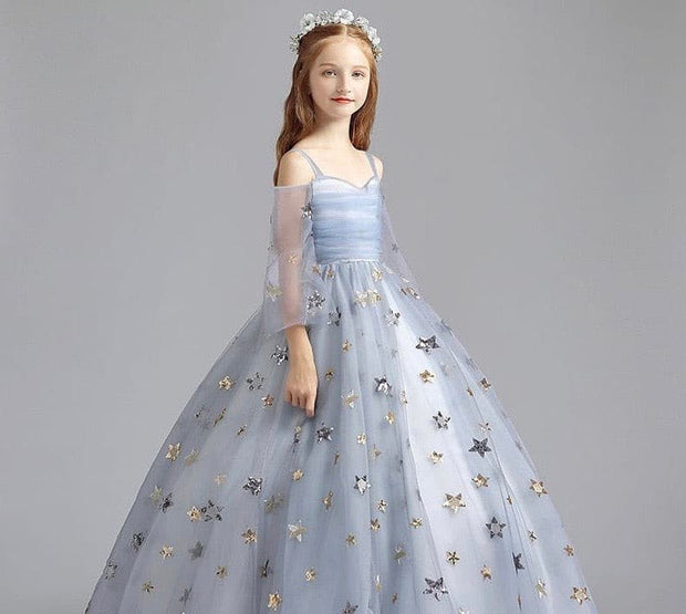 Elegant Grey Flower Girl Dresses