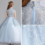 Elegant Sky Blue Flower Girl Dresses