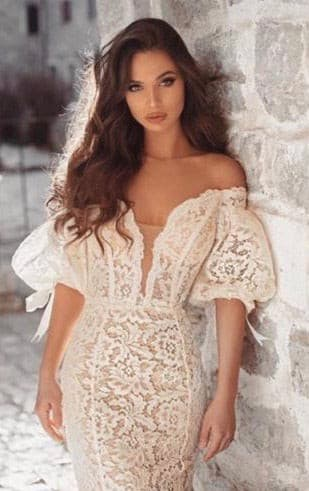 Romantic bridal dress - Amelie Baku Couture