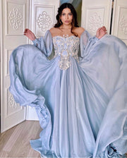 Baby Blue balloon  sleeve dress