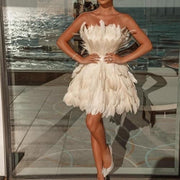 White Swan Feather Dress