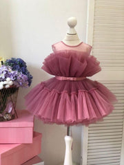 Tulle gown for girl pink