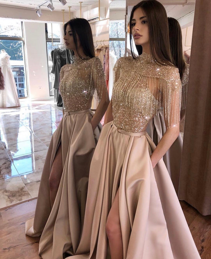 Gold Sparkle Couture Dress
