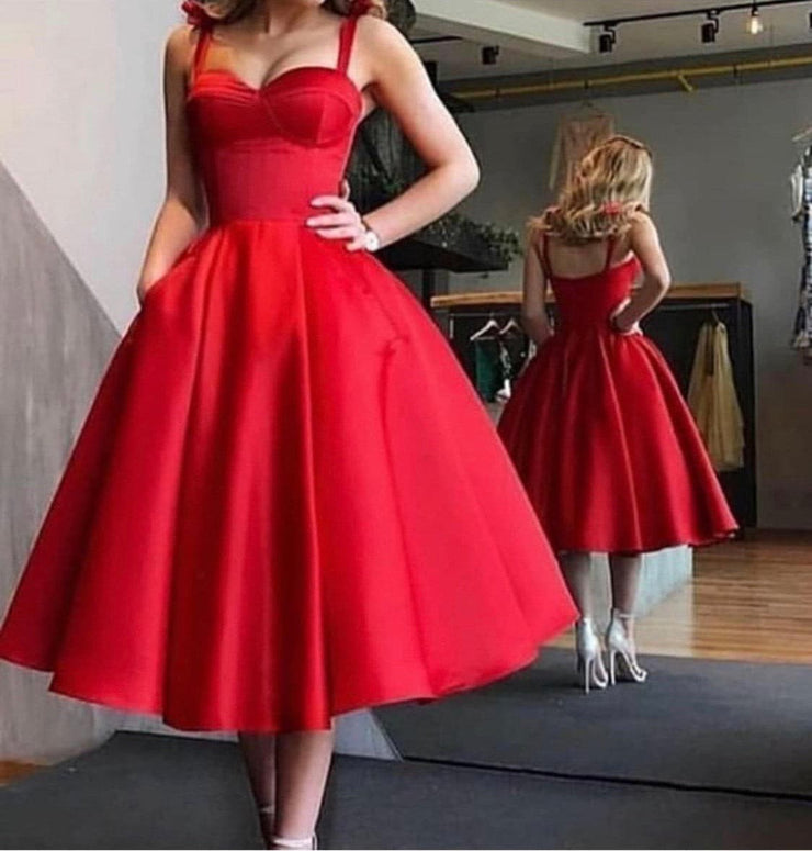 Love is Red Corset Dress