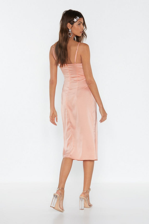 Summer Satin Midi Dress from Bloom collection