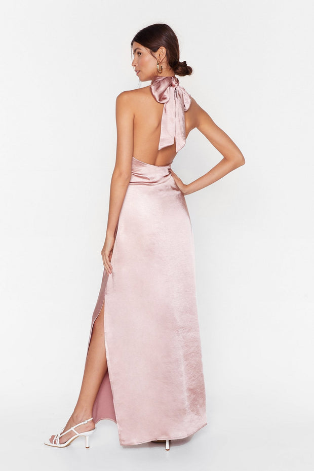 Satin Halter Dress from Bloom collection