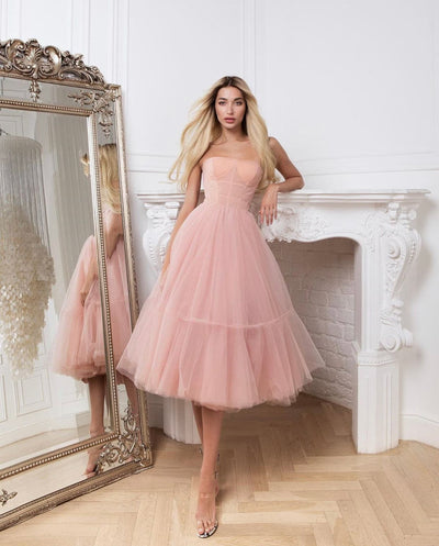 Pink Ballerina Dress - Amelie Baku Couture