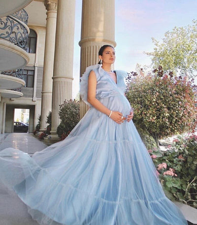 SKYLA MATERNITY GOWN - Amelie Baku Couture