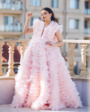 CLAUDIA GOWN PINK - Amelie Baku Couture