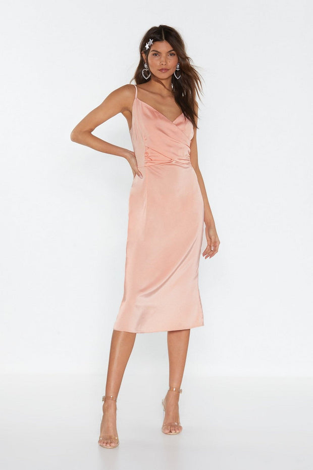 Summer Satin Midi Dress from Bloom collection - Amelie Baku Couture