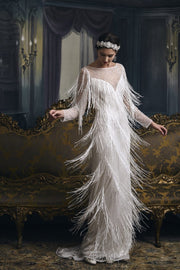 Gatsby Style Vintage Bridal - Amelie Baku Couture