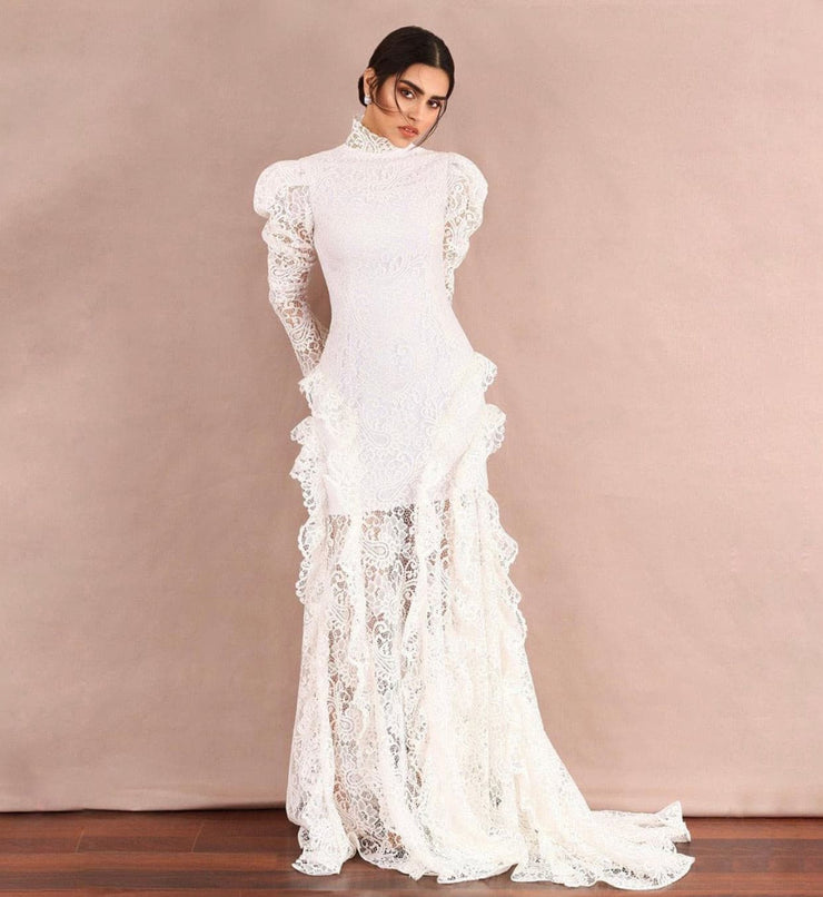 Davina Long Sleeve Lace Mermaid Dress by Amelie Baku
