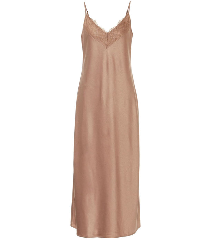 Caramel Satin slip dress