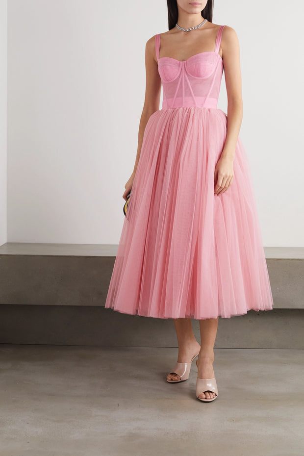 Tulle midi gown from Bloom Collection