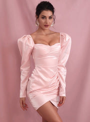 Long Sleeve Dress in pink from Bloom collection - Amelie Baku Couture