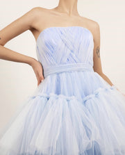 JOSEPHINE GOWN BLUE - Amelie Baku Couture