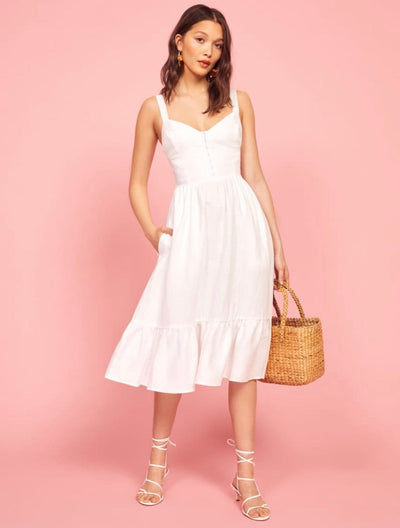 White midi length dress from Bloom collection