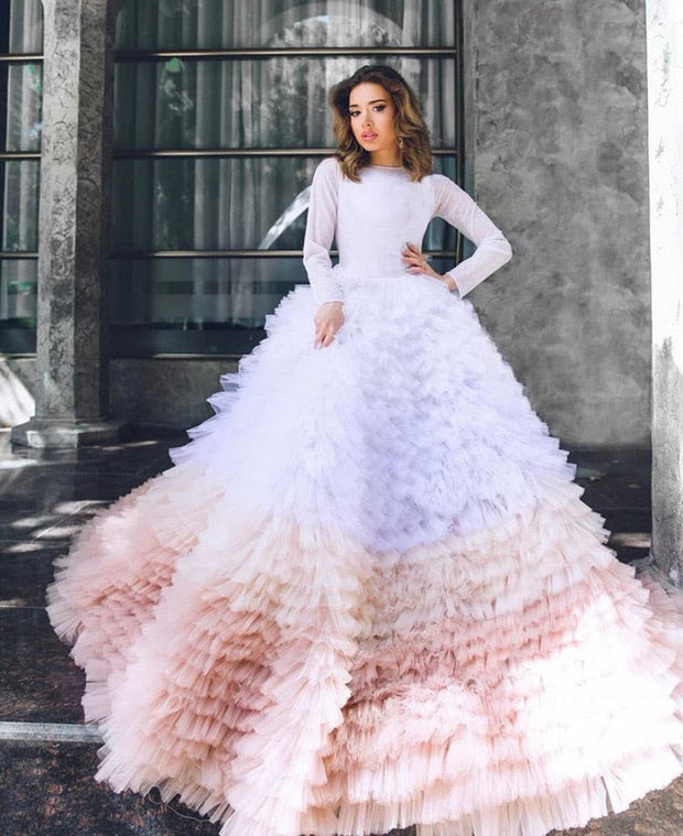 Long Sleeves Ombre Sofara Gown