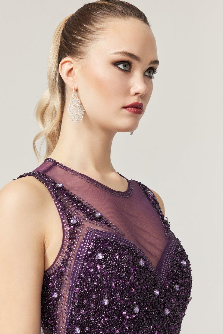 Violet Handmade Beaded Gown