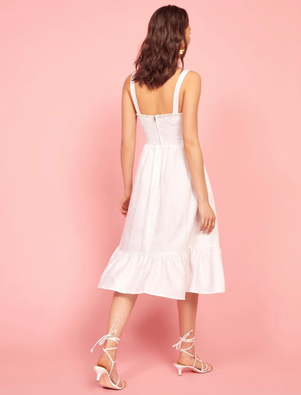White midi length dress from Bloom collection - Amelie Baku Couture