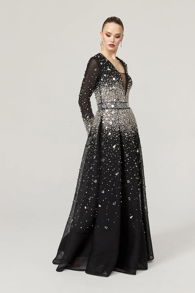 Glamours Black Handmade  Gown