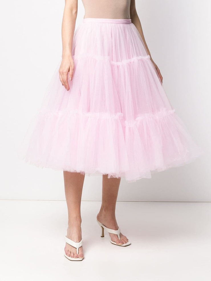 High-waisted Tulle A-line skirt - Amelie Baku Couture