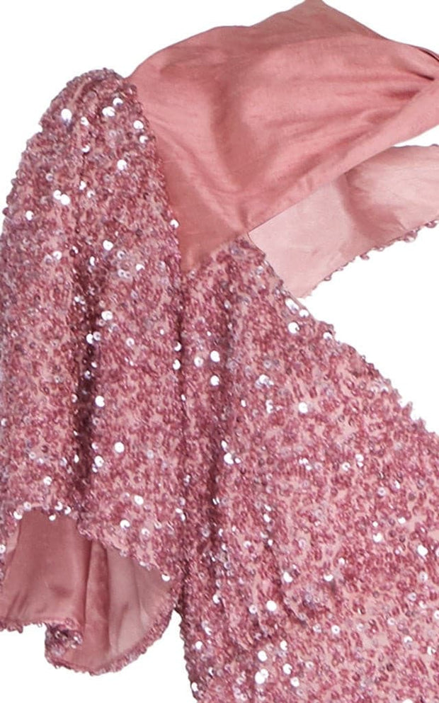 Ready To Wear Sequin Crystals Midi Dress