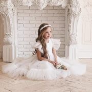 Flower girl dress with air wings