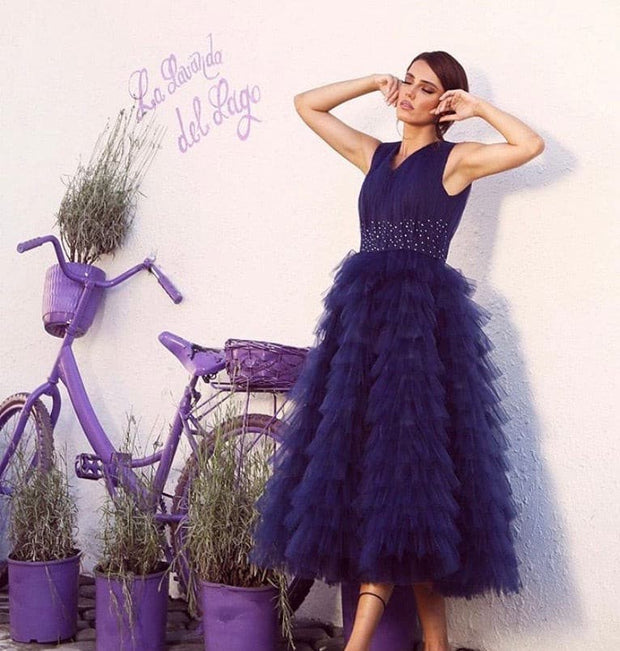 Indigo deep blue dress