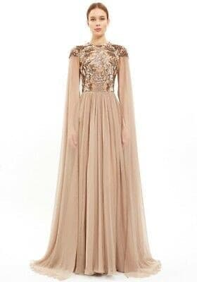 Golden Lady Chiffon Handmade Dress