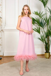Ostrich Feather Dress - Amelie Baku Couture