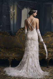 Great Gatsby Inspired Bridal - Amelie Baku Couture