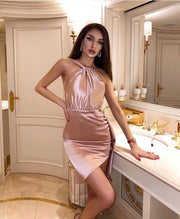 Pink Mini Party Dress from Bloom collection - Amelie Baku Couture