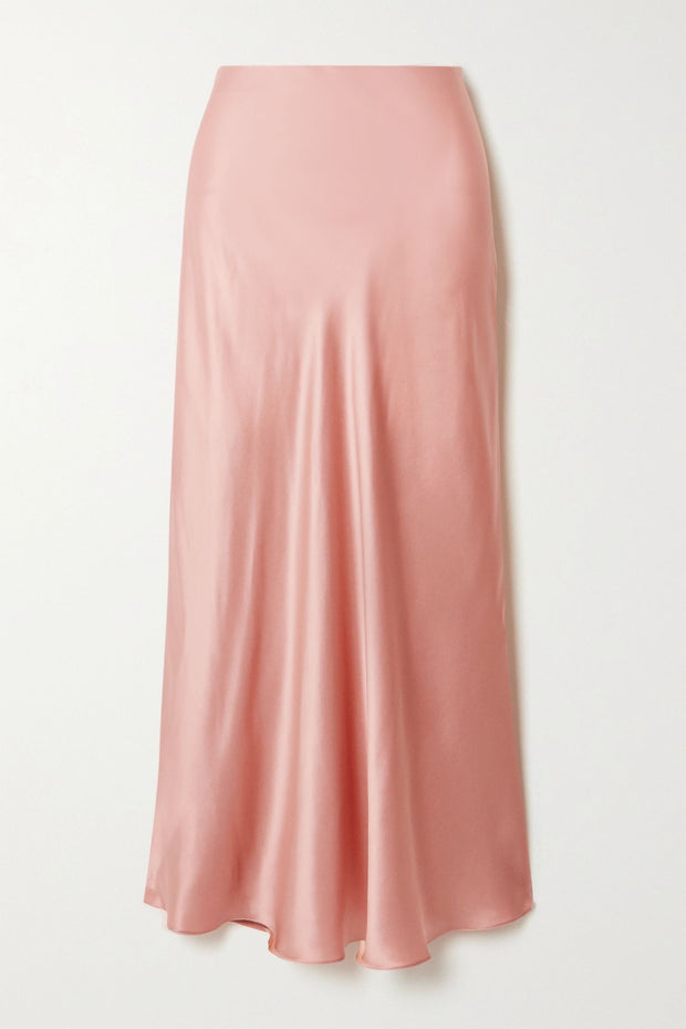Pink Rose Silk midi skirt from Bloom Collection - Amelie Baku Couture